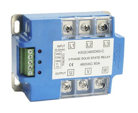 Kudom 60 A Solid State Relay Zero Cross Panel Mount SCR 530 V ac