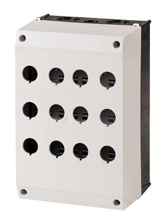 Eaton M22 Enclosed Push Button, 12 Hole Grey,