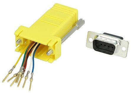 D-sub to RJ45 Female Network Adapter product photo