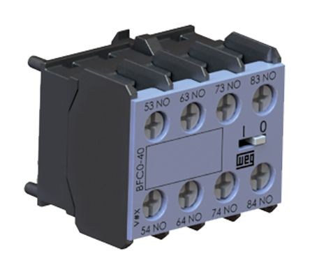 Front Mount Auxiliary Contact Block With Screw Terminal, 2NC, 10 A, 690 V ac product photo