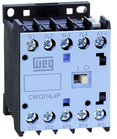 weg 4 pole contactor, 16 a, 230 v