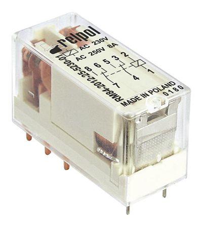 Relpol RM84-2012-35-1012 DPDT Miniature Relay 12V 8A PCB