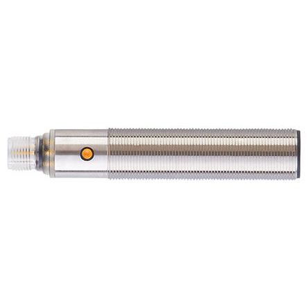 ifm electronic Ultrasonic Sensor Barrel M18 x 1, Maximum of 2200 mm, Current, PNP NO/NC, 5-Pin M12 Connector IO-Link