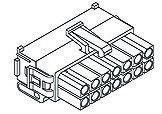 TE Connectivity, Mini-Universal MATE-N-LOK II Male Connector Housing, 4.14mm Pitch, 12 Way, 2 Row