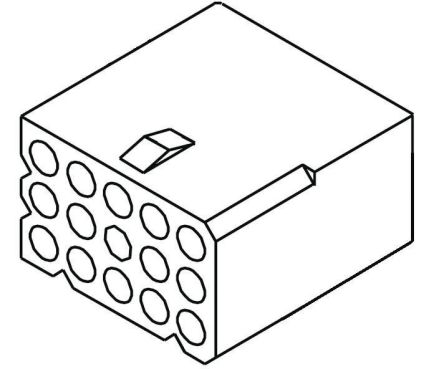 "03-06-1122 - Female Connector Housing - STANDARD .062"", 3.68mm Pitch, 12 Way, 3 Row product photo"