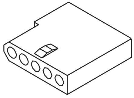"03-06-1056 - Female Connector Housing - STANDARD .062"", 3.68mm Pitch, 5 Way, 1 Row product photo"