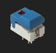 C & K Single Pole Double Throw (SPDT) Momentary Push Button Switch, 17.5 x 12.3mm, Through Hole, 24V dc