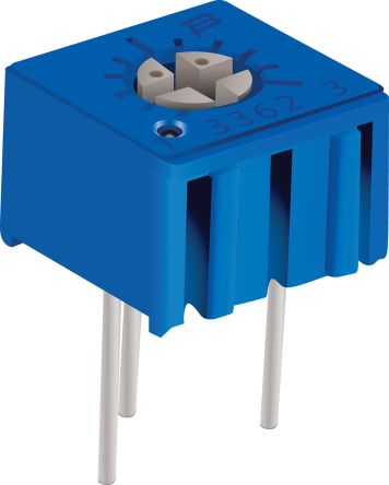 100kΩ Through Hole Trimmer Potentiometer 0.5W Side Adjust Bourns 3362 Series