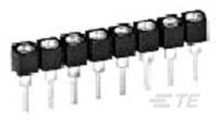 10 Way TE Connectivity Through Hole 2.54mm SIL Socket, Solder, 1A 1 kV ac, 500 V ac