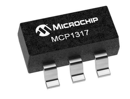 Microchip MCP1317T-31RE/OT, Processor Supervisor , WDT, Reset Input 5-Pin, SOT-23