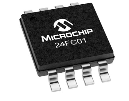 Microchip Technology 24FC01-I/MS, 1kbit EEPROM Memory Chip, 3500ns 8-Pin MSOP I2C, Serial-2 Wire