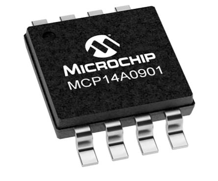 Microchip MCP14A0901-E/SN Low Side MOSFET Power Driver, 9 (Typ.)A 8-Pin, SOIC