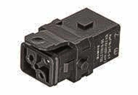 HARTING Han 1A Heavy Duty Power Connector Insert, 3 contacts, 10A, Female