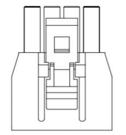 Amphenol FCI Female PCB Connector Housing, 2.5mm Pitch, 4 Way, 1 Row