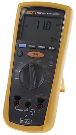 Fluke 1507, Insulation Tester 10GΩ CAT III 600 V, CAT IV 600 V UKAS Calibration