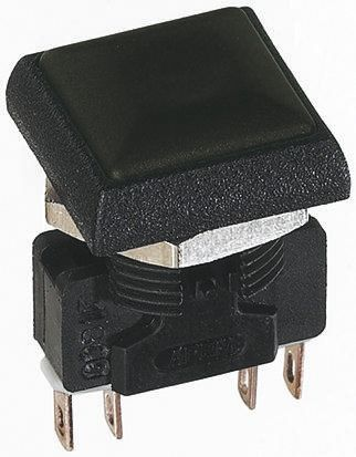 Black Square Head Panel Mounting Momentary Push Button Apem Switch