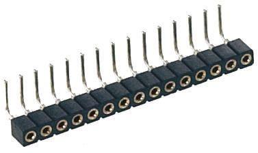 Preci-Dip SIL Soket (Single In Line - Tek Sıra) 2 Pinli 2mm Aralıklı, Karta Monte (Bacaklı Montaj)