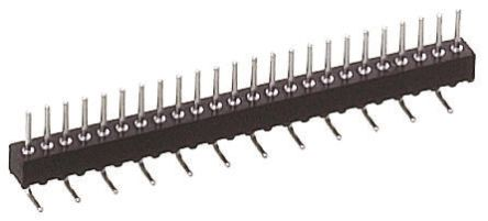 1.27mm 10 Way 1 Row Straight Surface Mount Male PCB Header Pin product photo