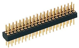 1.27mm 18 Way 2 Row Straight Through Hole Male PCB Header Pin product photo
