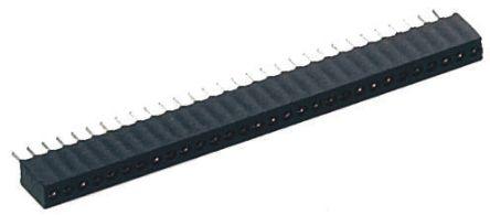 Preci-Dip SIL Soket (Single In Line - Tek Sıra) 2 Pinli 1,27mm Aralıklı, Karta Monte (Bacaklı Montaj)
