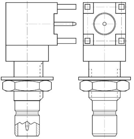 SMB r/a PCB mount Jack 75ohm
