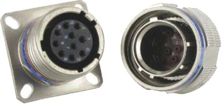Socapex 37 Way Wall Mount MIL Spec Circular Connector Receptacle, Socket Contacts,Shell Size 15, Screw Coupling product photo
