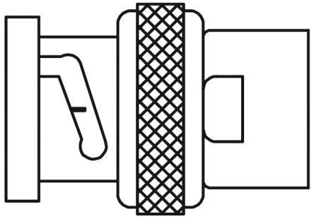 TE Connectivity Straight 50Ω Cable Mount BNC Connector, Plug, Nickel, Solder Termination