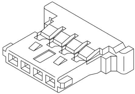 51146-0300 - Molex Female Connector Housing - PANELMATE, 1 25mm Pitch, 3  Way, 1 Row