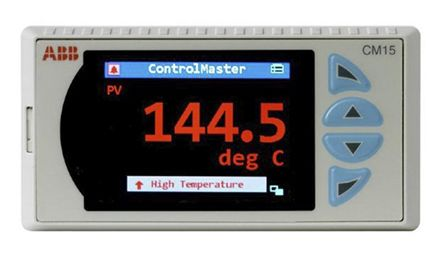 ABB CM15 Process Indicator, 50 x 97mm, 2 Output Analogue, Relay, 100 → 240 V ac Supply Voltage ON/OFF