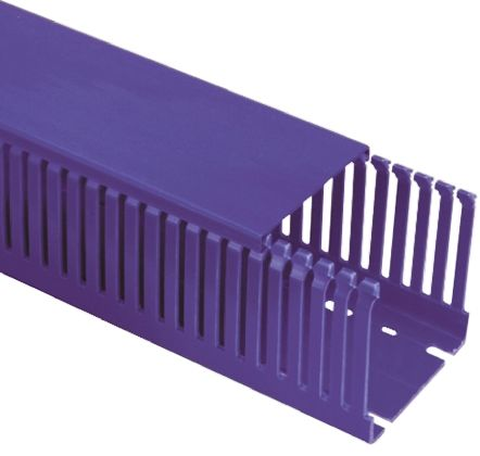 Slotted Panel Trunking Blue, Open Slot, W100 mm x D50mm, L2m Noryl product photo
