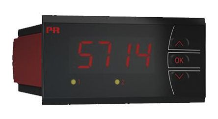 PR Electronics 5714B , LED Digital Panel Multi-Function Meter for Current, Potentiometer Signals, Resistance,