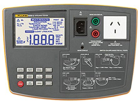 Fluke Pass/Fail PAT 6200 2 Portable Appliance Tester, Class I, Class II Test Type
