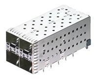 2007637 Series 2 x 2 Port Right Angle SFP+ Cage, Press-Fit Termination product photo