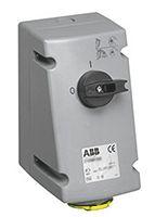 Vertical Switchable IP44 Interlocked Socket 2P+E, 32A, 100 -> 130 V product photo