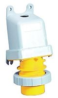ABB Tough & Safe Series, IP67 Yellow Panel Mount 2P+E Industrial Power Plug, Rated At 16A, 100 → 130 V