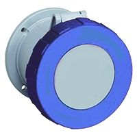 ABB Tough & Safe Series, IP67 Blue Panel Mount 2P+E Industrial Power Socket, Rated At 63A, 200 → 250 V