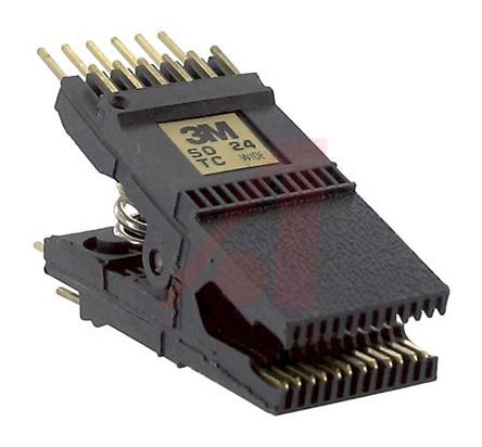 SOIC test clip, .300 body, 24 pin, gold