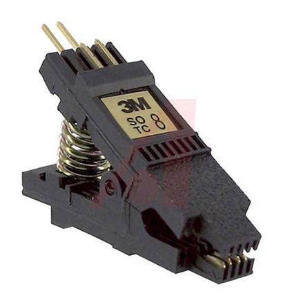 SOIC test clip, .150 body, 8 pin, gold