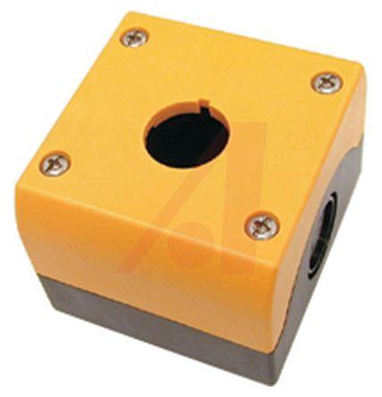 Eaton M22 Push Button Enclosure, 1 Hole Dark