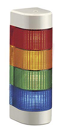 4 Light Elements 24 V ac//dc Patlite LED Signal Tower Coloured