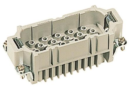 Han D HMC Series size 16 B Connector Insert, Male, 40 Way, 10A, 250 V