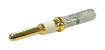 Hirose HR43 Series, size 2.38mm Male Crimp Circular Connector Contact for use with Bayonet Lock Connector, Wire size