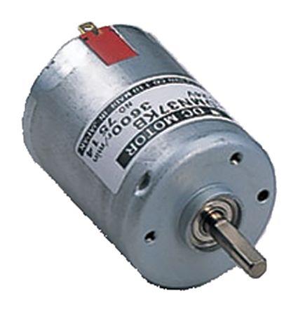Nidec Brushed DC Motor, 9 2 W, 24 V dc, 24 5 mNm, 3600 rpm, 5mm Shaft  Diameter