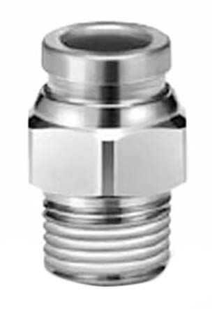 SMC Pneumatic Straight Threaded-to-Tube Adapter, M5 x 0.8 Male to 3.2mm