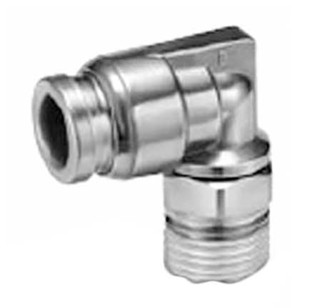 SMC Pneumatic Elbow Threaded-to-Tube Adapter, 42948 Thread 10mm Tube Connection
