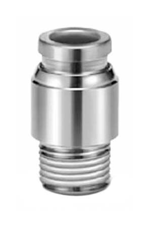SMC Pneumatic Straight Threaded-to-Tube Adapter, R 1/4Push In 6 mm