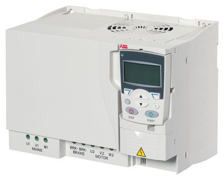 ABB Inverter Drive, 3-Phase In, 0 → 600Hz Out 18 5 kW, 400 V with EMC  Filter, 38 A ACS355, IP20