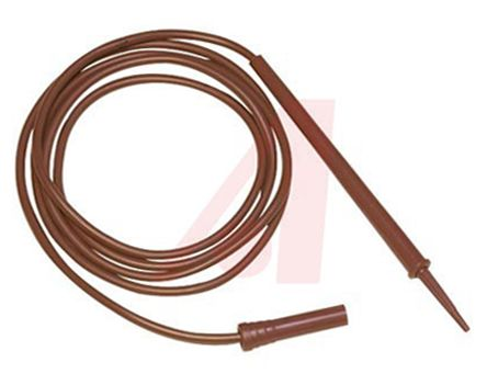 Mueller Electric 4 mm Test lead With Needle Test Probe Male, 3kV, 6.5A, 1.2m Lead Length