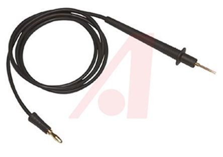 Mueller Electric 4 mm Test lead With Needle Test Probe Male, 600V, 10A, 1.2m Lead Length