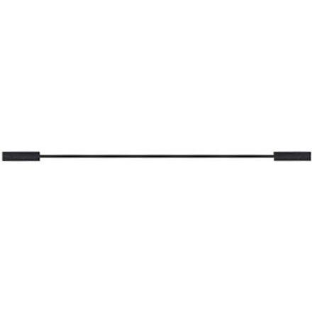 Mueller 0.64 mm Connector Test Lead 300V, 3A, Black, 0.3m Length